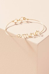 Anthropologie Spell It Out Bracelet Yellow Motif