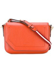 Bally Fold Over Closure Crossbody Bag Yellow Orange