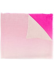 Snobby Sheep Frayed Edge Scarf Pink And Purple