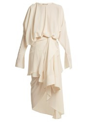 A.W.A.K.E. Draped Shirt Overlay Dress Cream