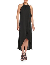 Ella Moss Layered Ruffled Halter Dress Black