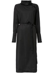 Stella Mccartney Tasseled Coat Dress Black