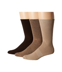 Sperry Soft Extreme Core Crew 3 Pack Bison Cornstalk Crew Cut Socks Shoes Brown