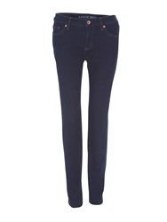 Lands' End Mid Rise Straight Leg Jeans Denim Dark Indigo