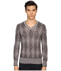 Marc Jacobs Hazy Diamond Knit Sweater Pale Pink Combo Men's Sweater