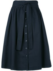 Woolrich Pleated Full Skirt Blue