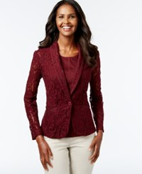 Inc International Concepts Floral Lace Blazer Only At Macy's Port
