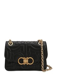 Salvatore Ferragamo Small Quilted Leather Shoulder Bag Black