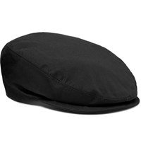 Dolce And Gabbana Stretch Cotton Flat Cap Black