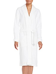 Saks Fifth Avenue Long Sleeve Cotton Robe Pewter