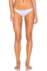 Wildfox Couture New Skin Reversible Brazilian Bikini Bottom Blue