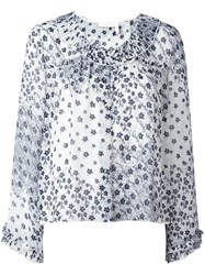 See By Chloe Floral Blouse Blue