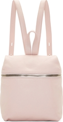 Kara Pink Pebbled Leather Small Backpack