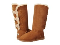 Ugg Tall Bailey Knit Bow Chestnut Twinface Women's Pull On Boots Brown