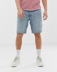 Tom Tailor Relaxed Fit Denim Shorts In Stone Wash Blue