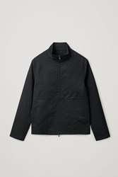 Cos High Neck Cotton Jacket Black