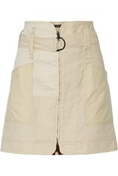 Isabel Marant Vivian Belted Linen And Cotton Blend Mini Skirt White