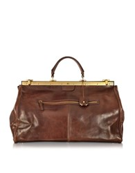 The Bridge Story Viaggio Marrone Leather Travel Bag