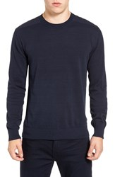 French Connection Men's Nylon Trim Pullover Marine Blue