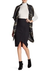 Cupcakes And Cashmere Side Zip Front Slit Skirt Gray