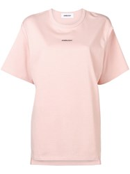 Ambush Cut Out Detail T Shirt Pink