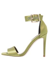 Miss Selfridge Cora Sandals Dark Green Khaki
