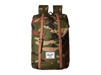 Herschel Retreat Woodland Camo Tan Synthetic Leather Backpack Bags Olive