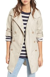 French Connection Women's Drape Back Trench Coat Palm Sand