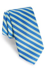 Southern Tide Striped Cotton And Silk Tie Blue