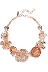 Oscar De La Renta Rose Gold Plated Necklace One Size
