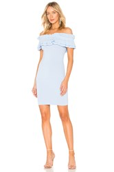 Endless Rose Off Shoulder Knit Bodycon Dress Baby Blue