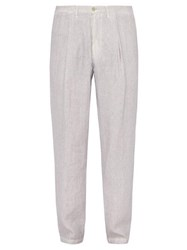 120 Lino Linen Trousers Grey