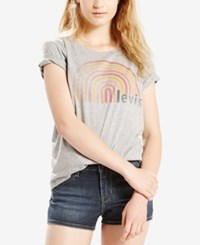Levi's Perfect Graphic T Shirt Grey