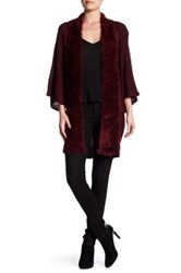 Vertigo Fuzzy Eyelash Knit Cardigan Red