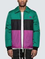 Acne Studios Odgar Face Stripe Jacket Green