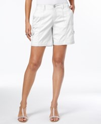 Style And Co Comfort Waist Cargo Shorts Only At Macy's Bright White