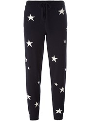 Chinti And Parker Star Intarsia Track Pants Blue