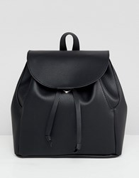 Asos Design Mini Soft Minimal Backpack Black