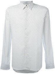 Paul Smith Ps By Polka Dot Patterned Shirt Men Cotton L White