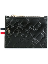 Thom Browne Animal Embossed Coin Purse Black