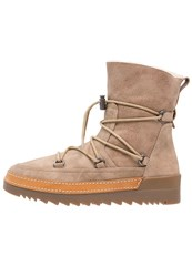Anna Field Laceup Boots Beige