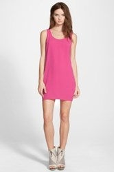Leith Scoop Back Woven Tank Dress Juniors Pink