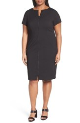 Lafayette 148 New York Plus Size Women's Deja Zip Sheath Dress