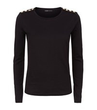 Maje Trapani Metal Popper Tee Female Black