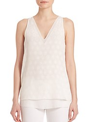 Cooper And Ella Harper Jacquard Top White