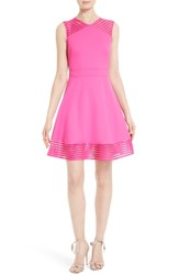 Ted Baker Women's London Eleese Fit And Flare Dress Fuchsia