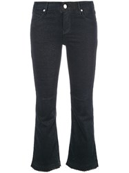 Rta Cropped Flared Jeans Grey