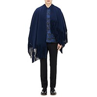 Burberry Xo Barneys New York Men's Fringed Felted Poncho Navy