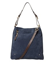 White Stuff Aurelia Suede Hobo Bag Blue