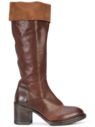 Moma Zipped Boots Brown